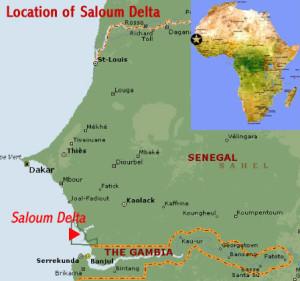 Poloha zátoky Saloum