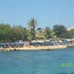 Slunečníky na plážích v Senegalu